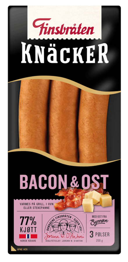 Knäcker Bacon & Ost