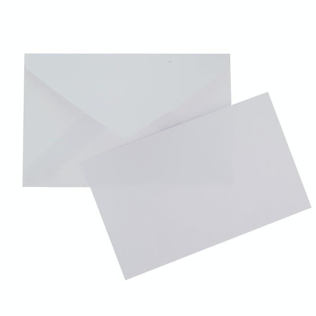 Biglietto neutro bianco 10x6