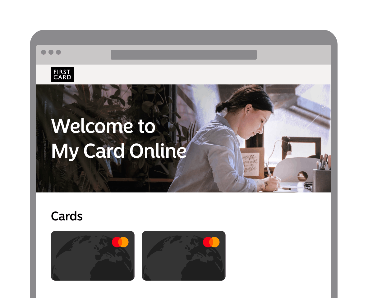 Welcome My Card Online screenshot from app