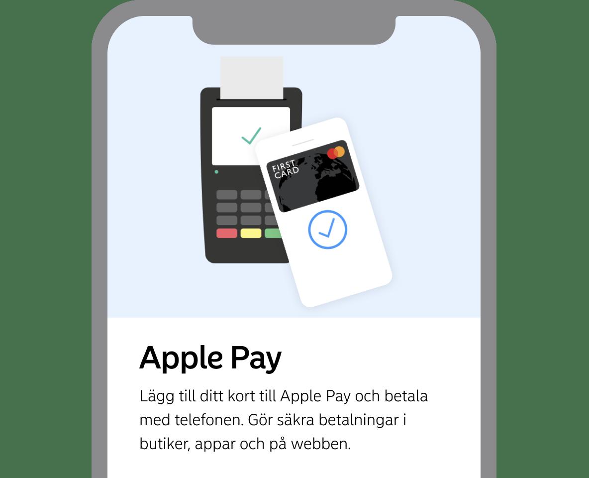 Apple Pay bild från First Card app