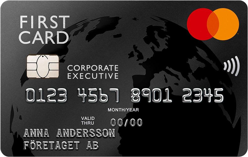 Product, First Card Executive - företaget som betalningsansvarig