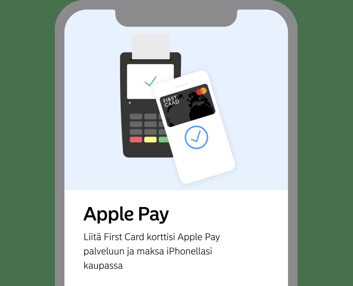 Apple Pay kuva First Card -sovelluksesta