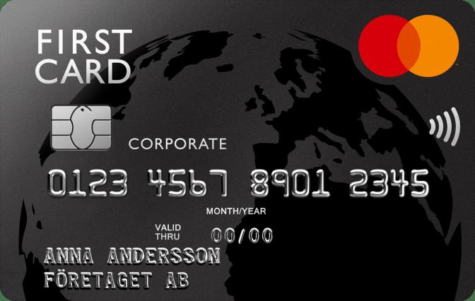 Product, First Card - företaget som betalningsansvarig