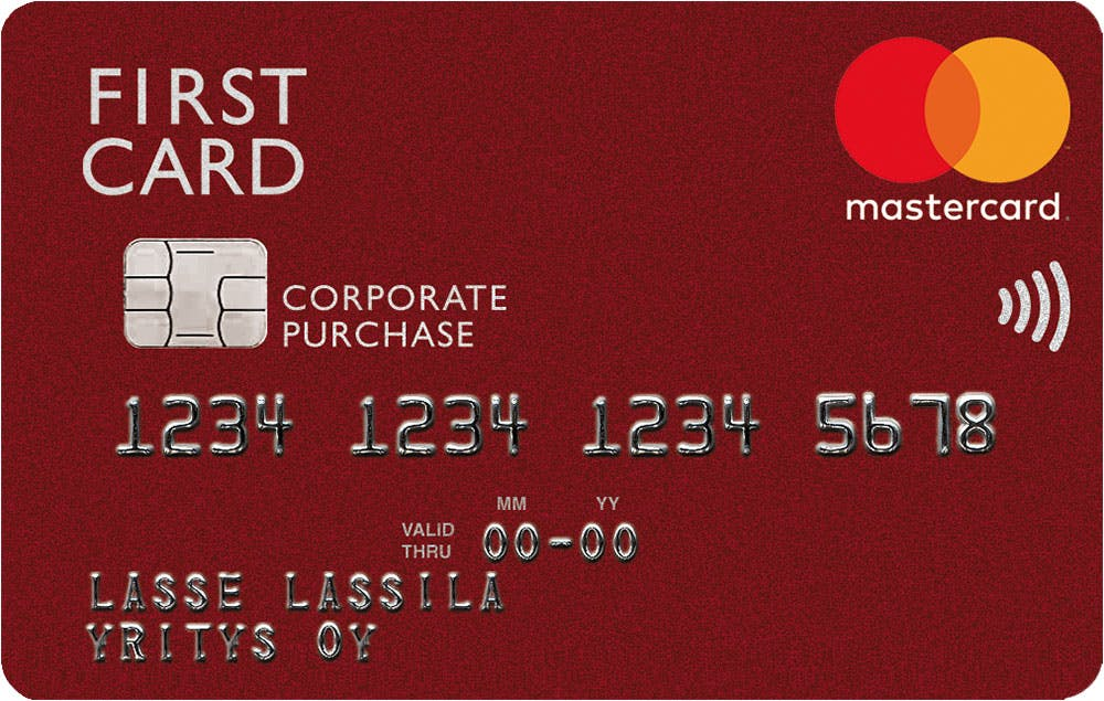 Product, First Card Hankintakortti