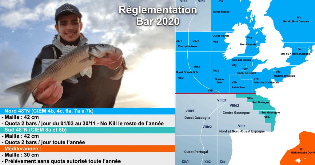 Réglementation Pêche du Bar 2020