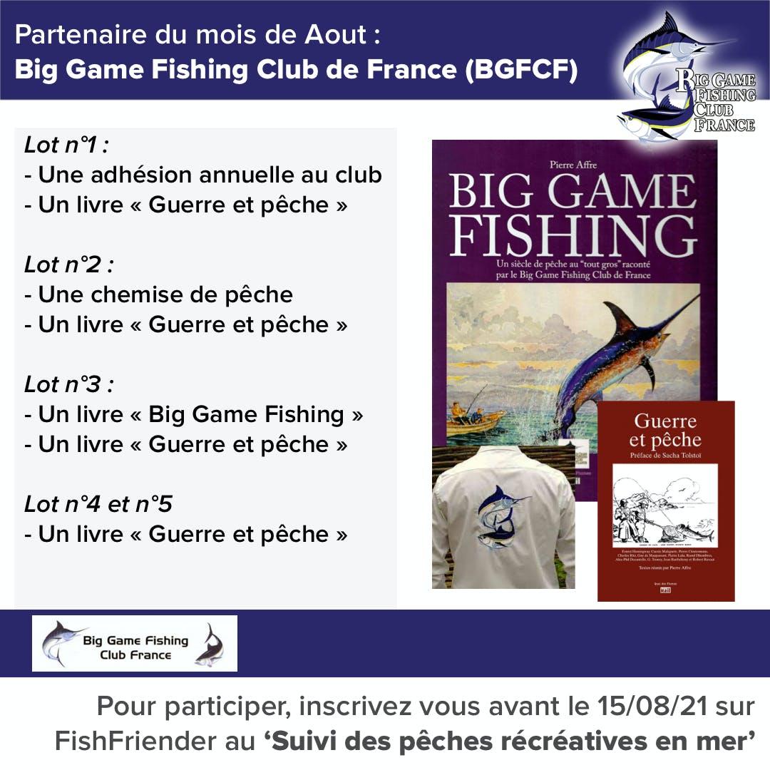 Rejoignez l'étude de pêche récréative en mer pour tenter de gagner l'un des superbes lots offerts par le BGFC