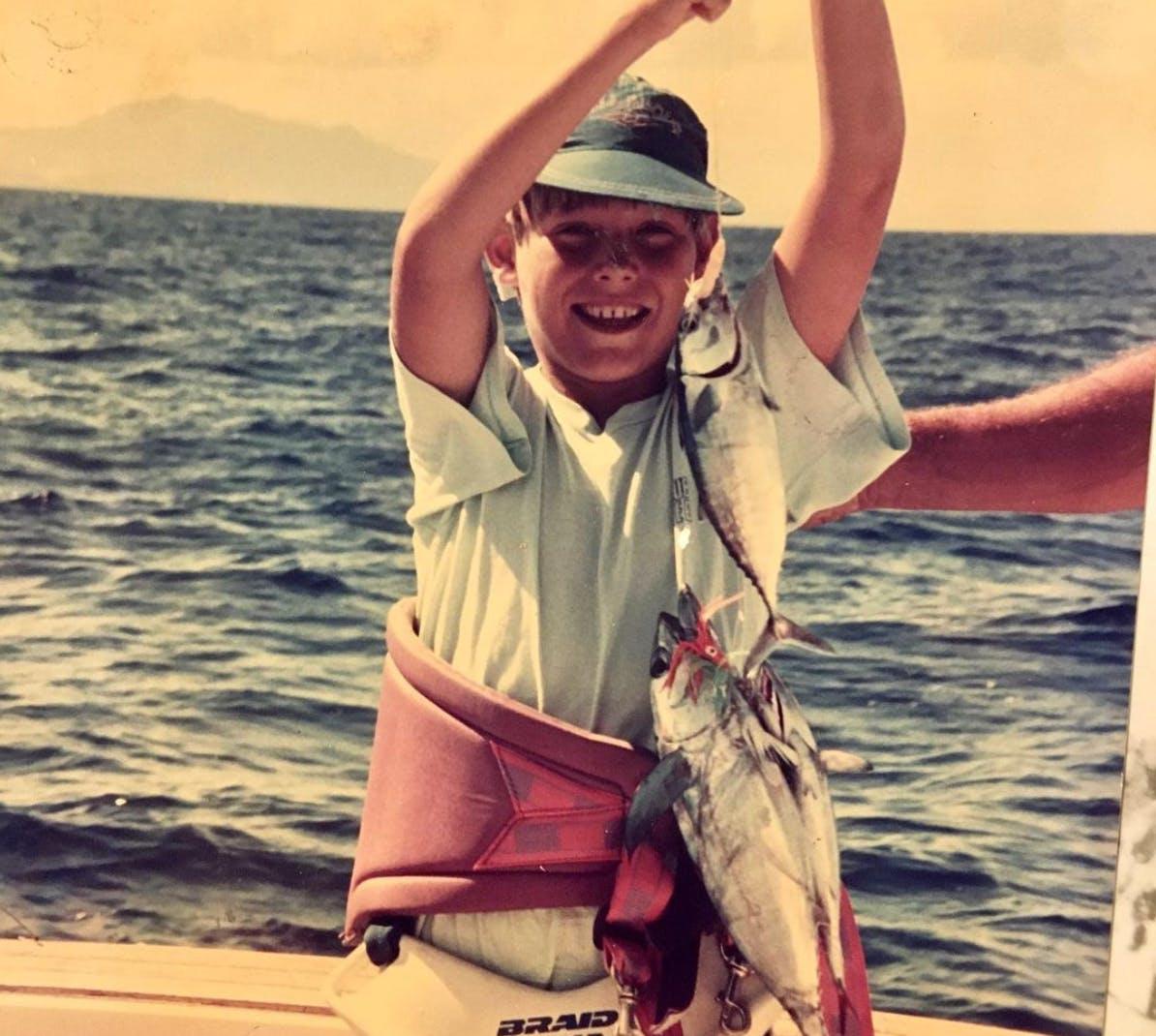 On peut dire que Vincent Torta est tombé dans la pêche depuis tout petit
