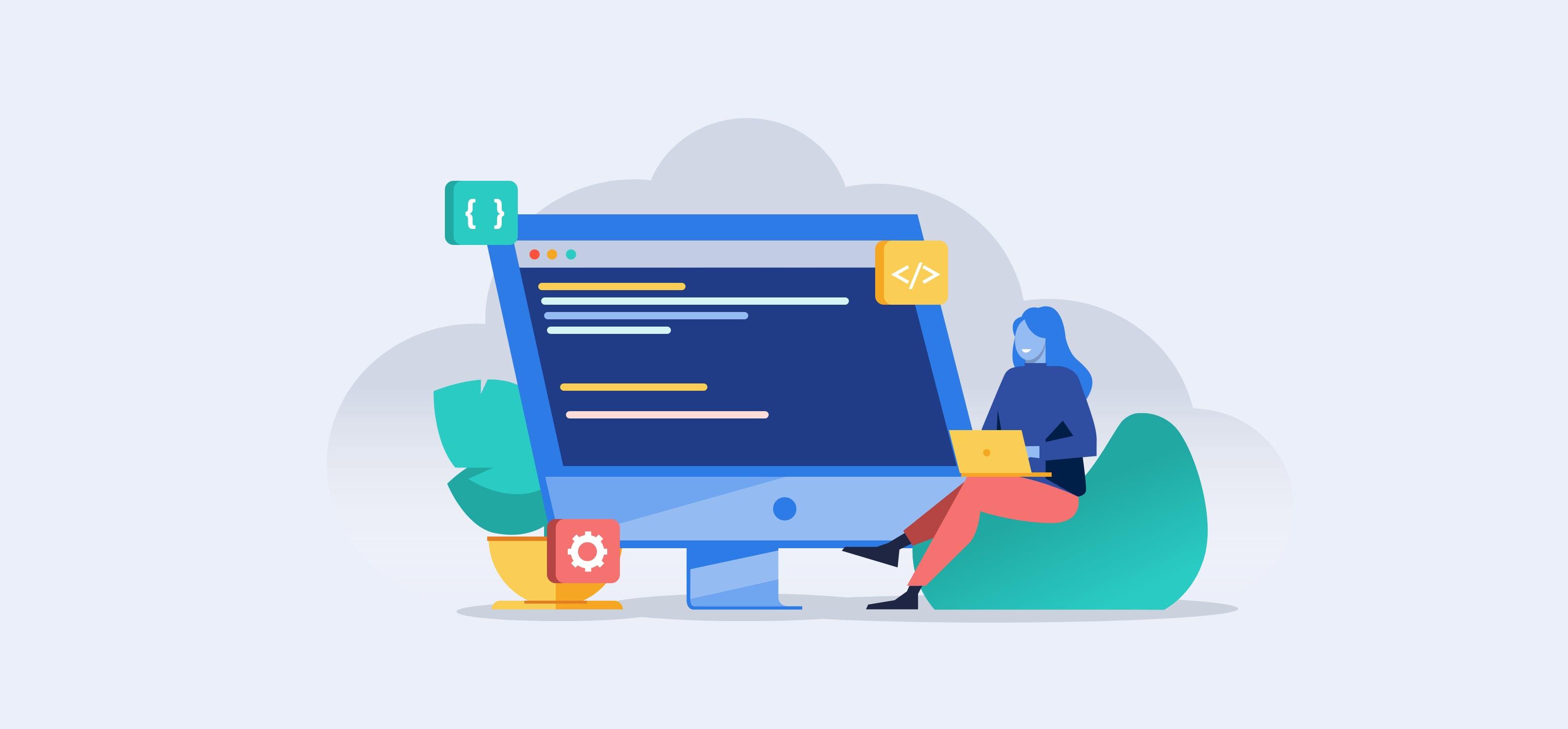 HR Software for Software Teams Illustration