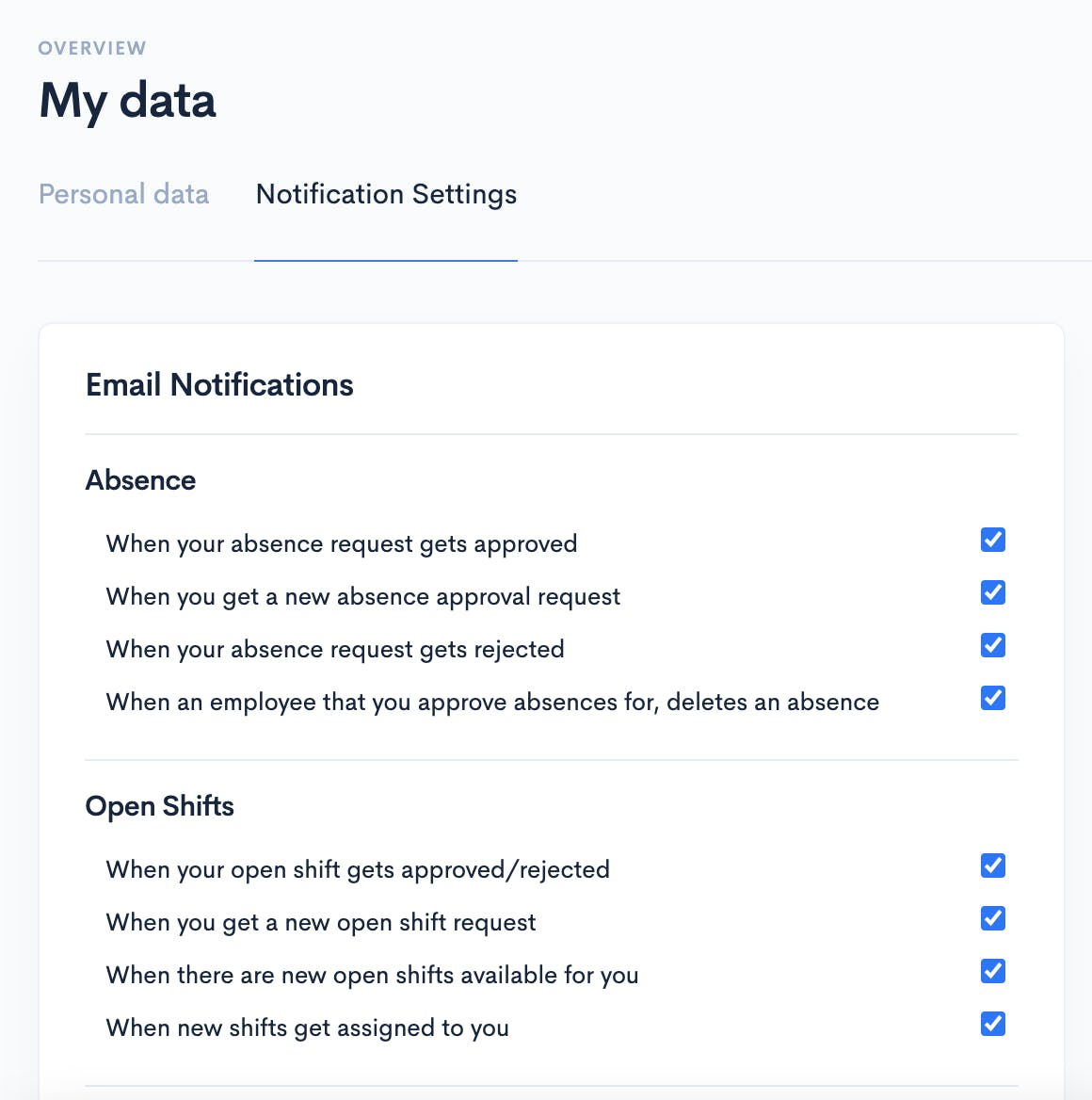 Flair's Notification Settings