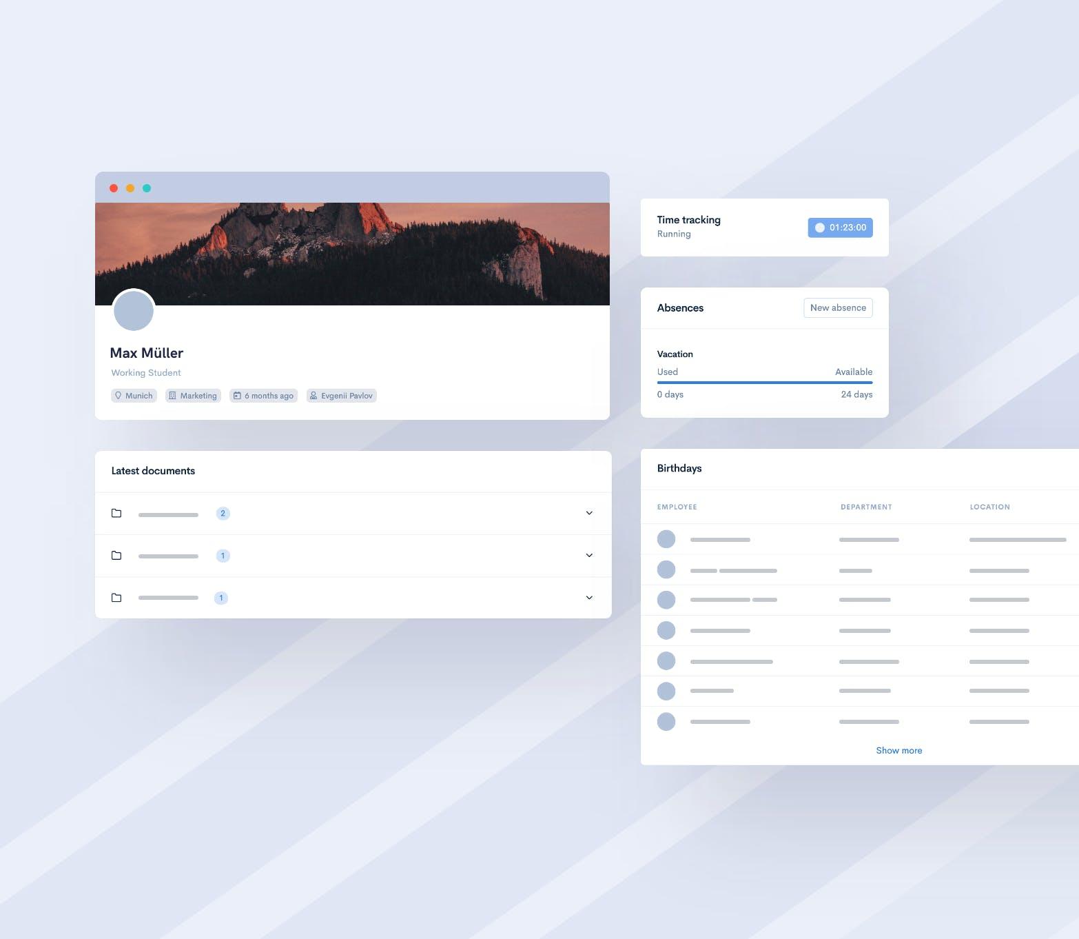 Nutzerfreundliche Oberfläche für jeden deiner Mitarbeiter!