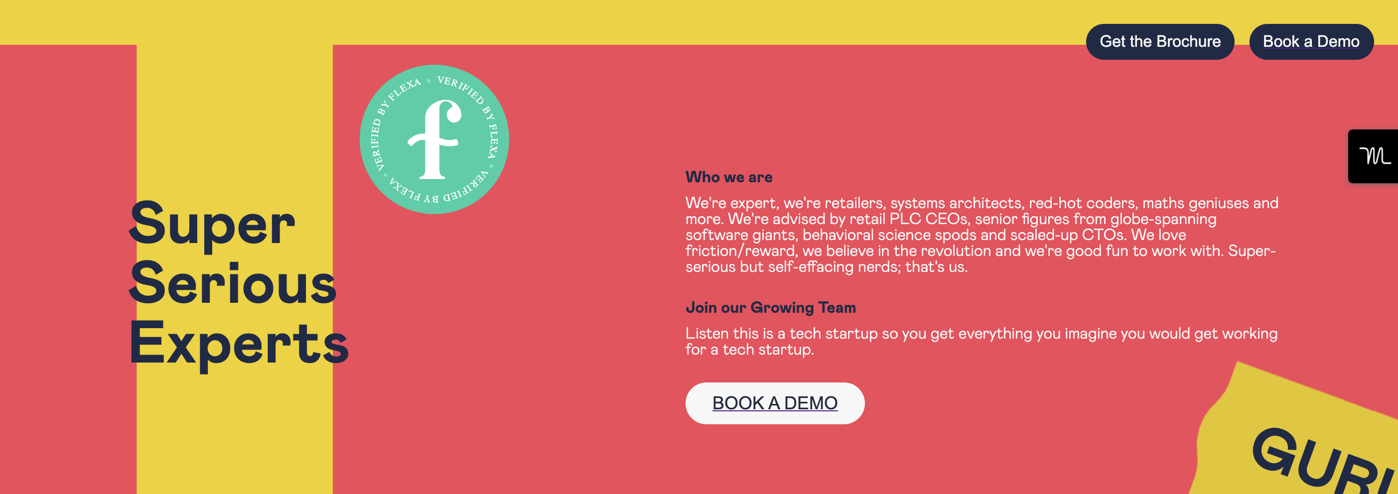 Uncrowd's careers page displaying the green Flexified seal of approval