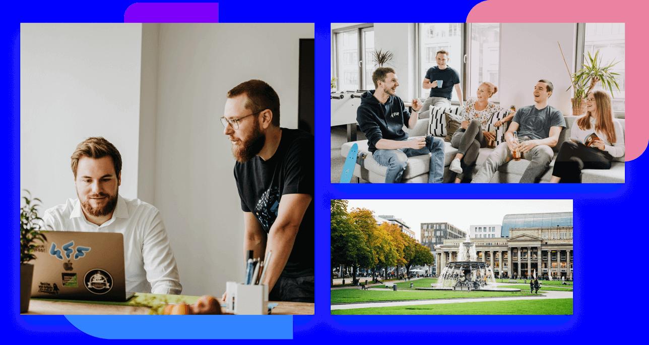 Flip employee App Stuttgart collage