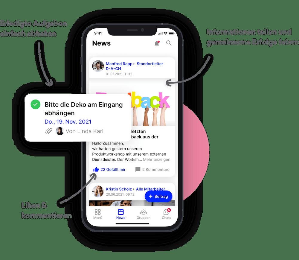 Aufgaben Mitarbeiter App Flip