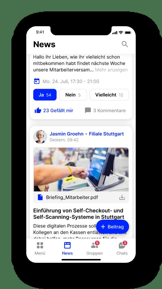 Flip App Newsfeed