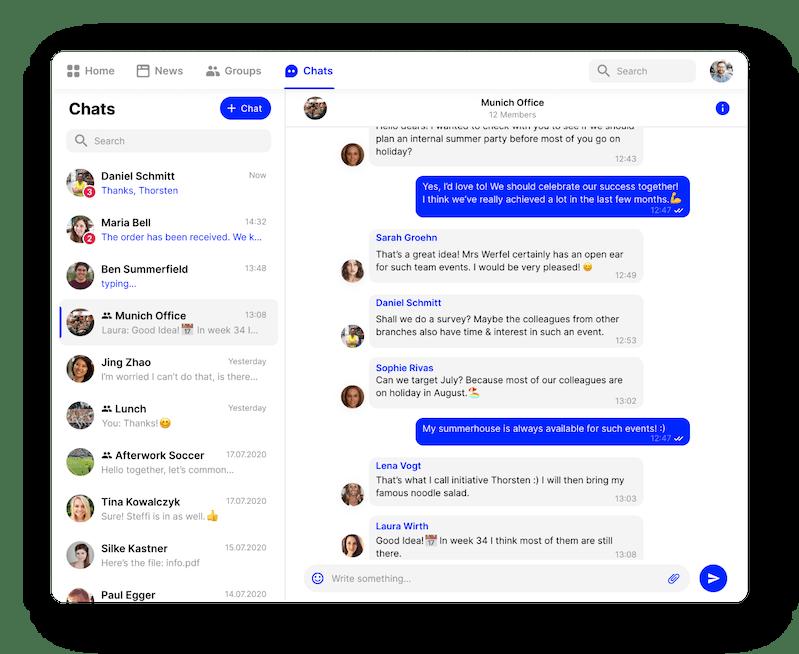 employee app chat