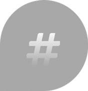 grey Bubble with hashtag