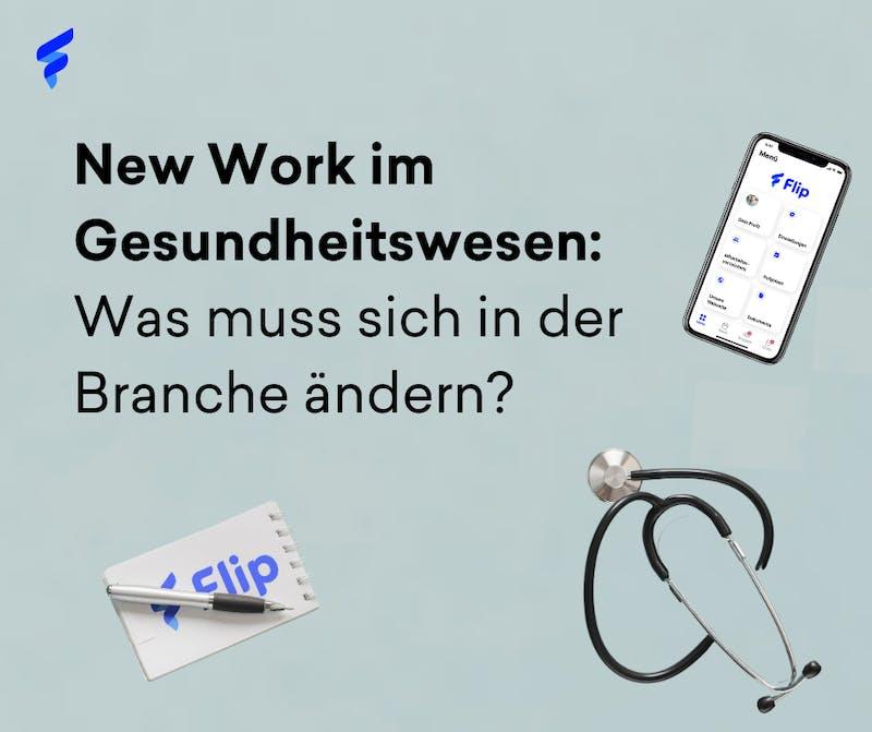 New Work im Gesundheitswesen Flyer