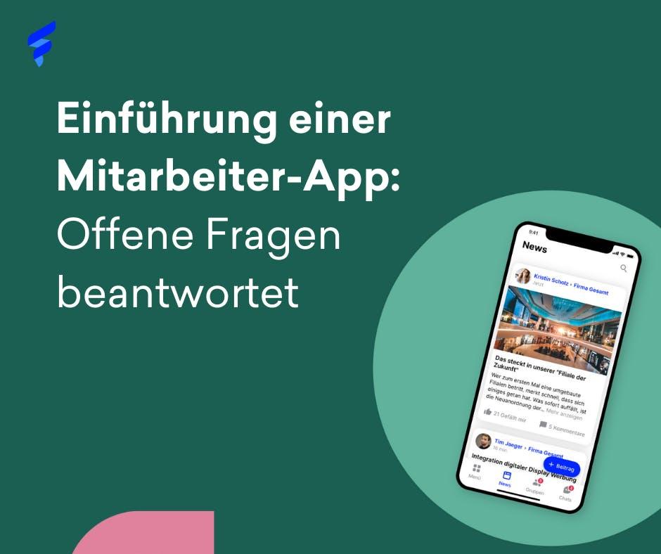 Einführung einer Mitarbeiter-App Flyer
