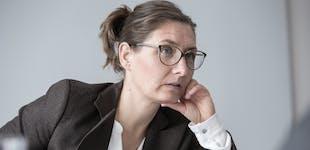 woman in a talk