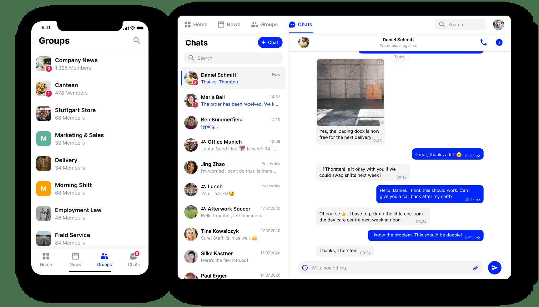 employee app Flip