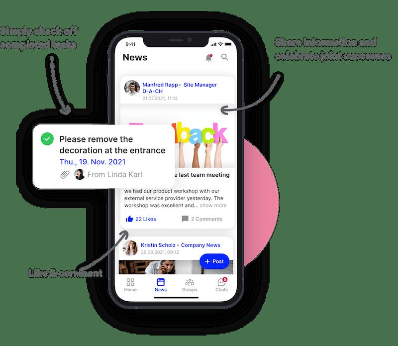 Eigene Mitarbeiter App
