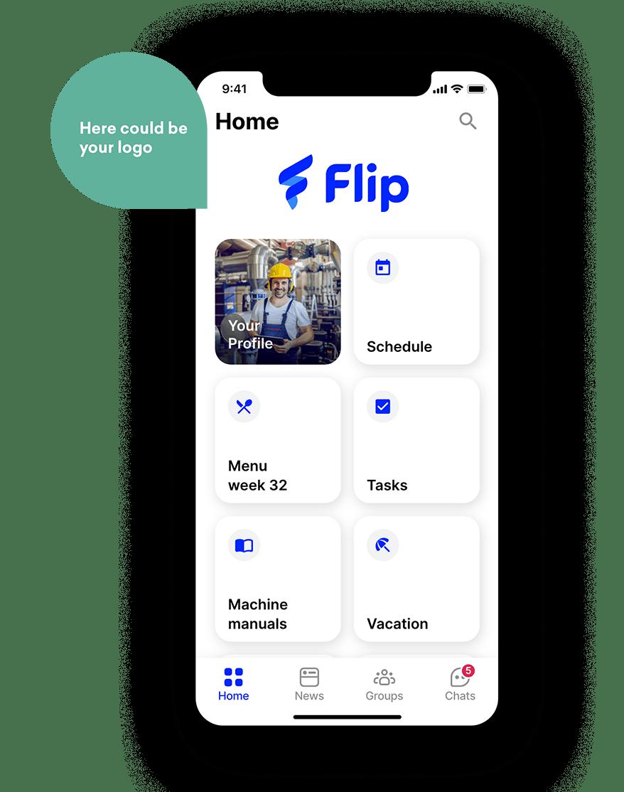 employee app Flip manufacturing
