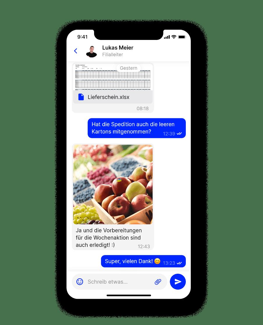 Mitarbeiter App Flip Handel Newsfeed