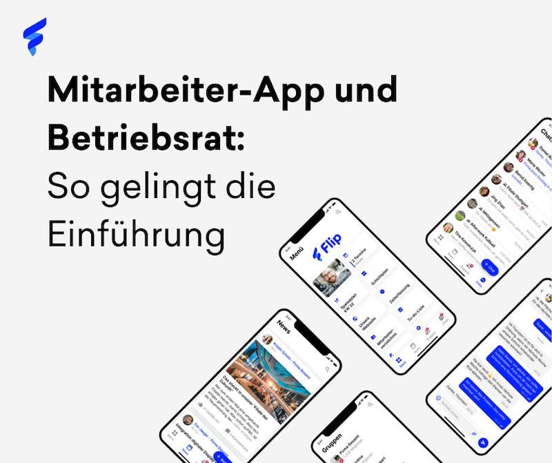 Mitarbeiter-App und Betriebsrat Flyer