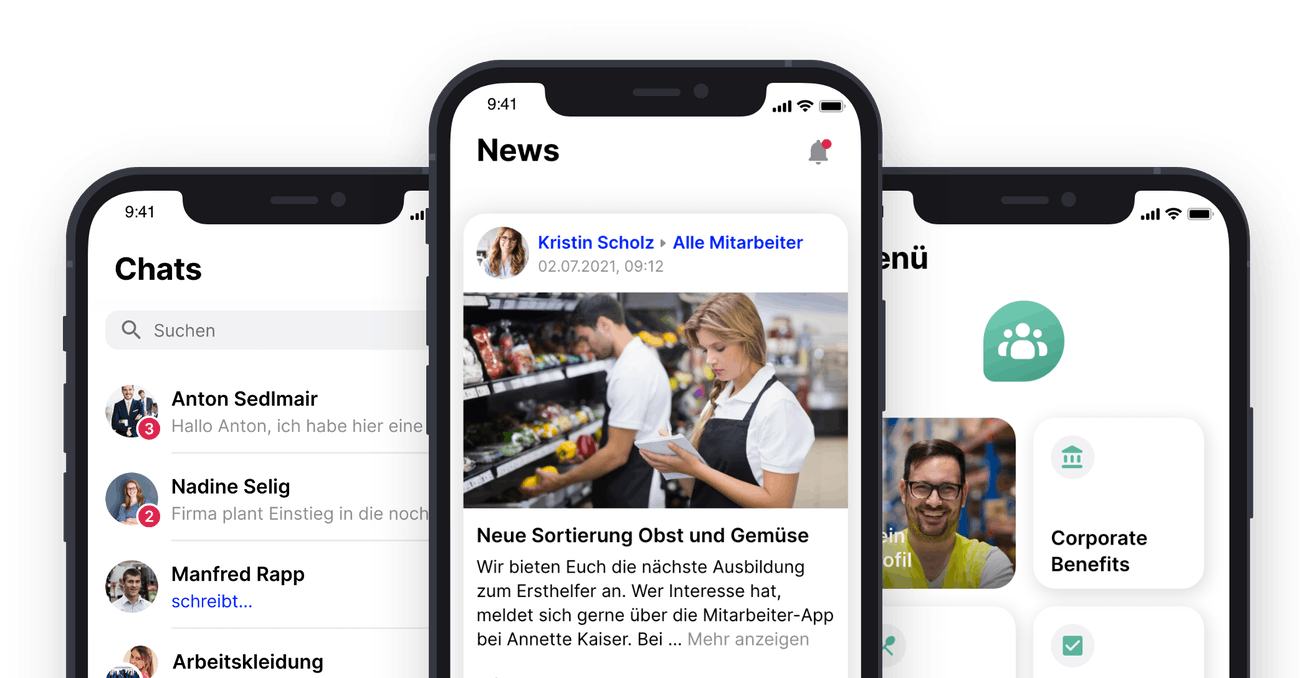 Interne Kommunikation mit Mitarbeiter-App Flip