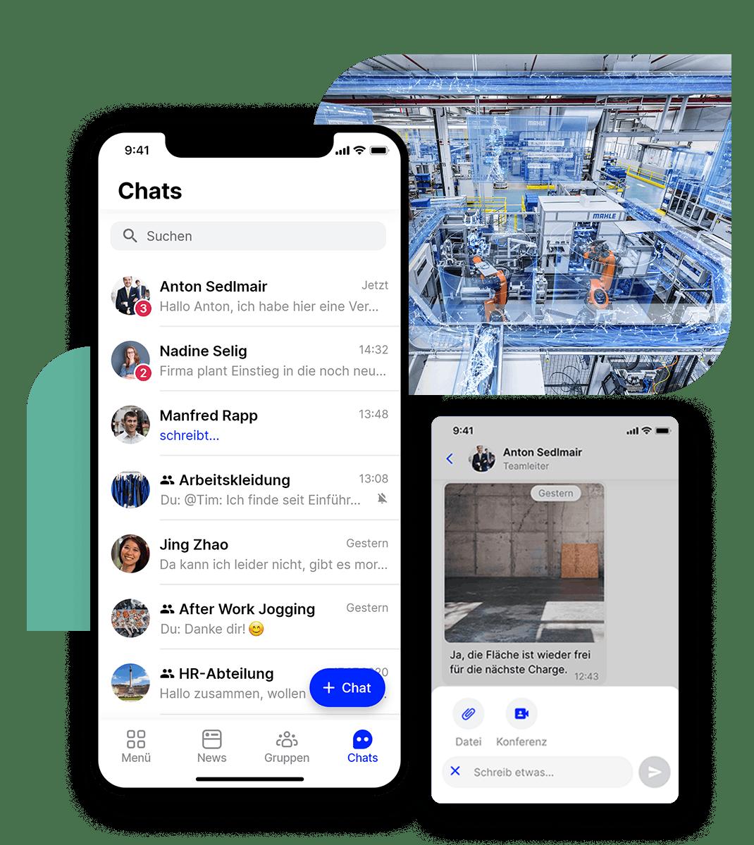 Flip Mitarbeiter App Chat