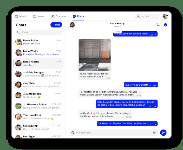 Flip Desktop Mitarbeiter App