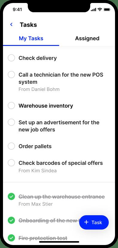 employee app Flip smartphone