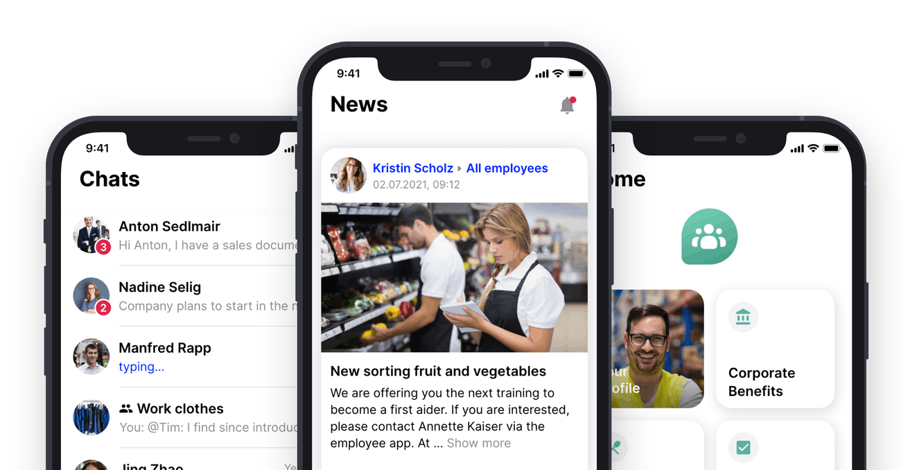newsfeed employee app flip