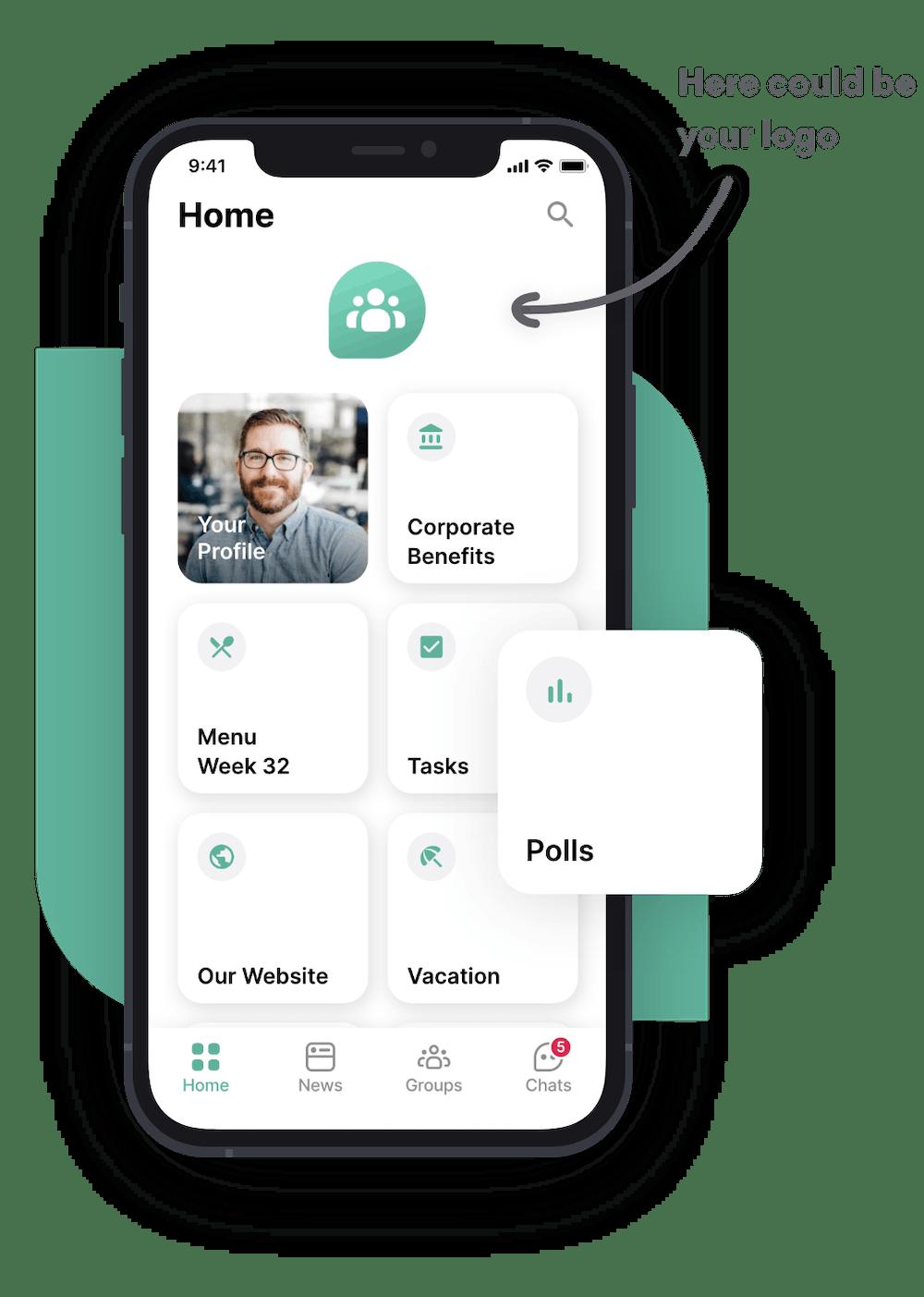 personalized flip app menu