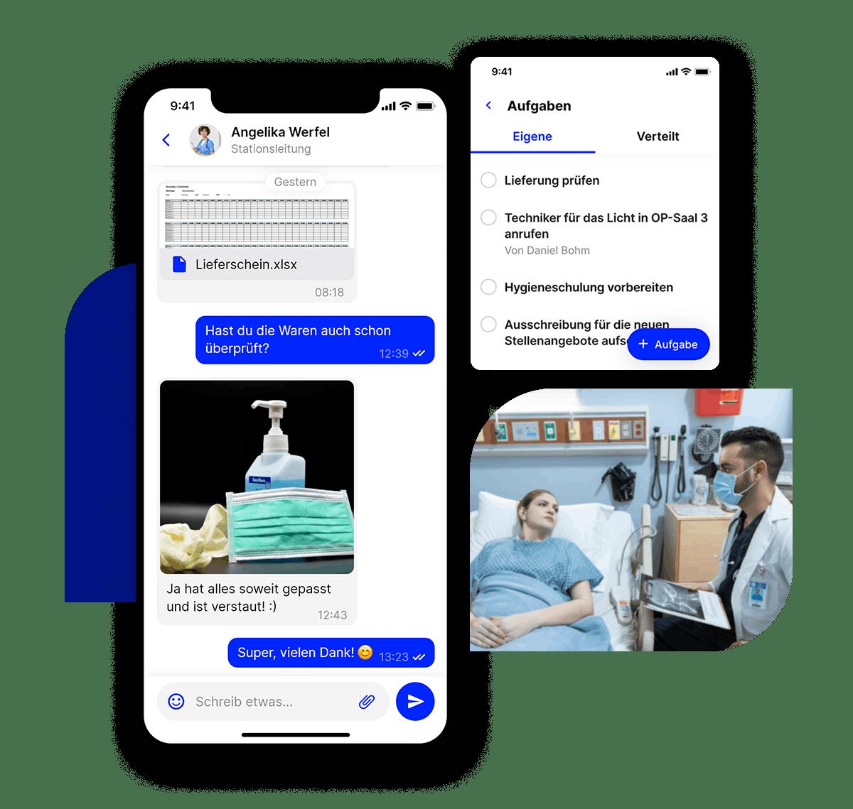 Flip App im Gesundheitswesen