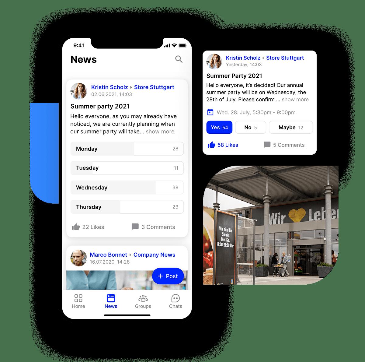 employee app Flip retail supermarket surveys