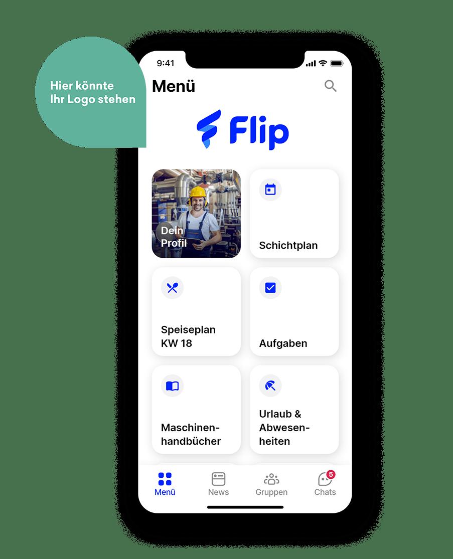 Flip Mitarbeiter-App Produktion