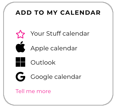 Add To My Calendar Stuff   Invitations to private and public events