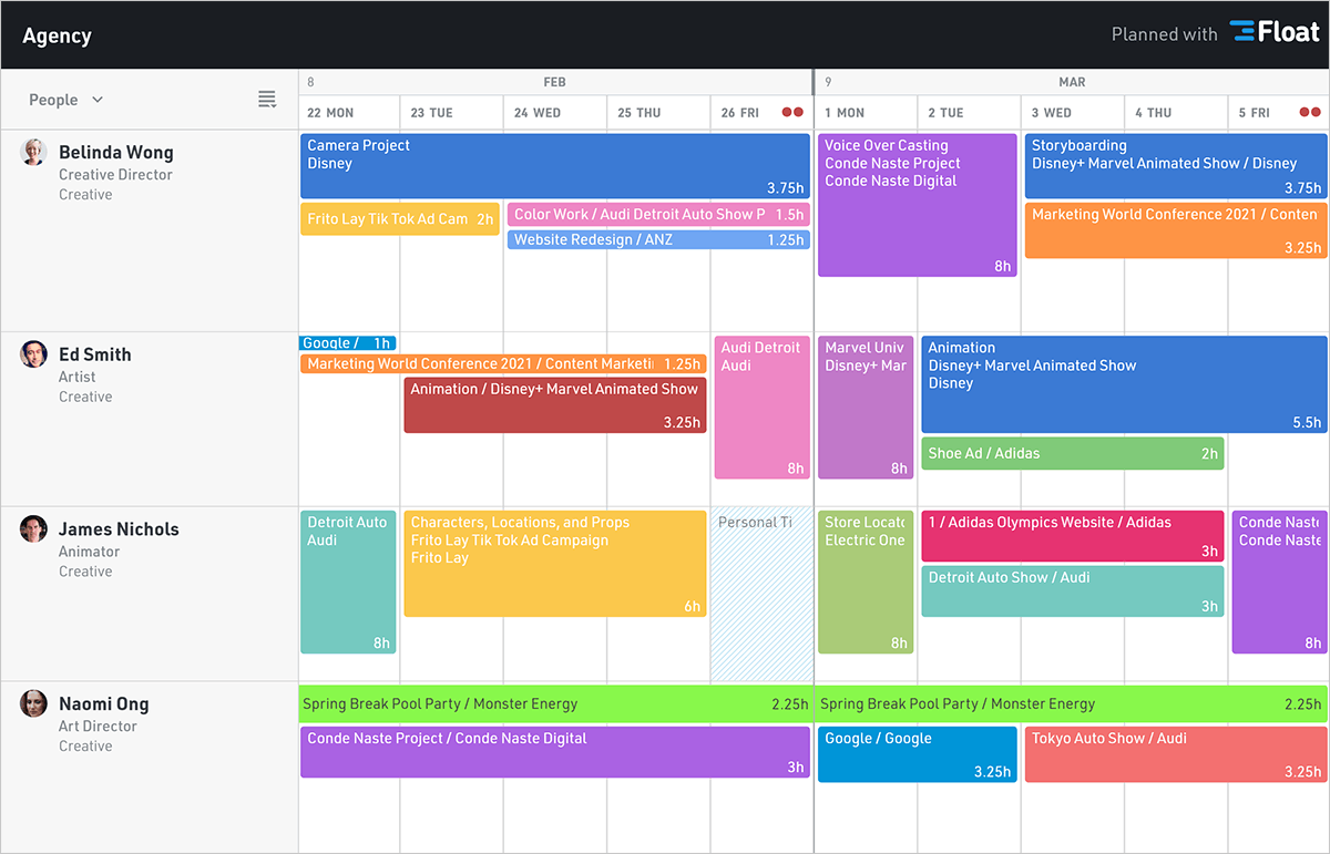 Shared schedule view
