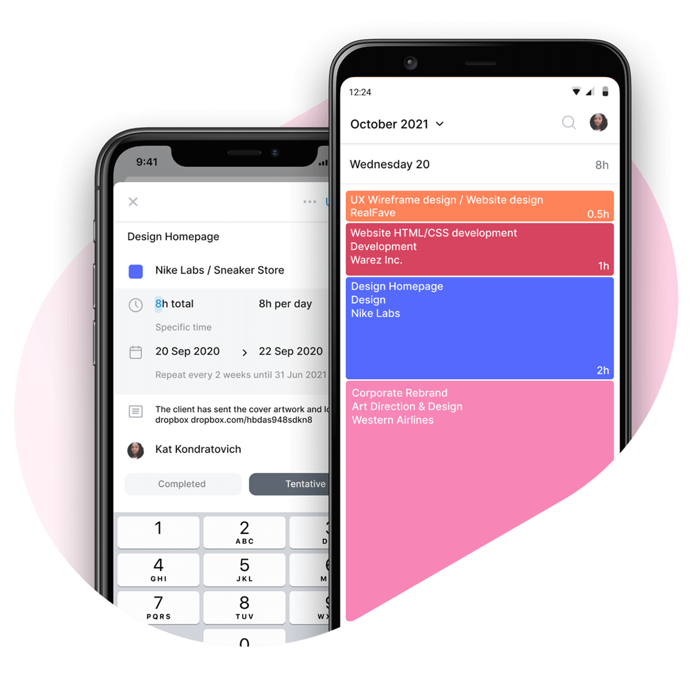 Float mobile app for Android and iOS