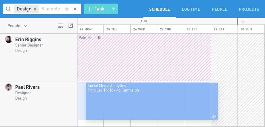 Float Resource Scheduling