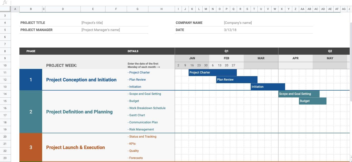 Resource Calendar in Spreadsheet