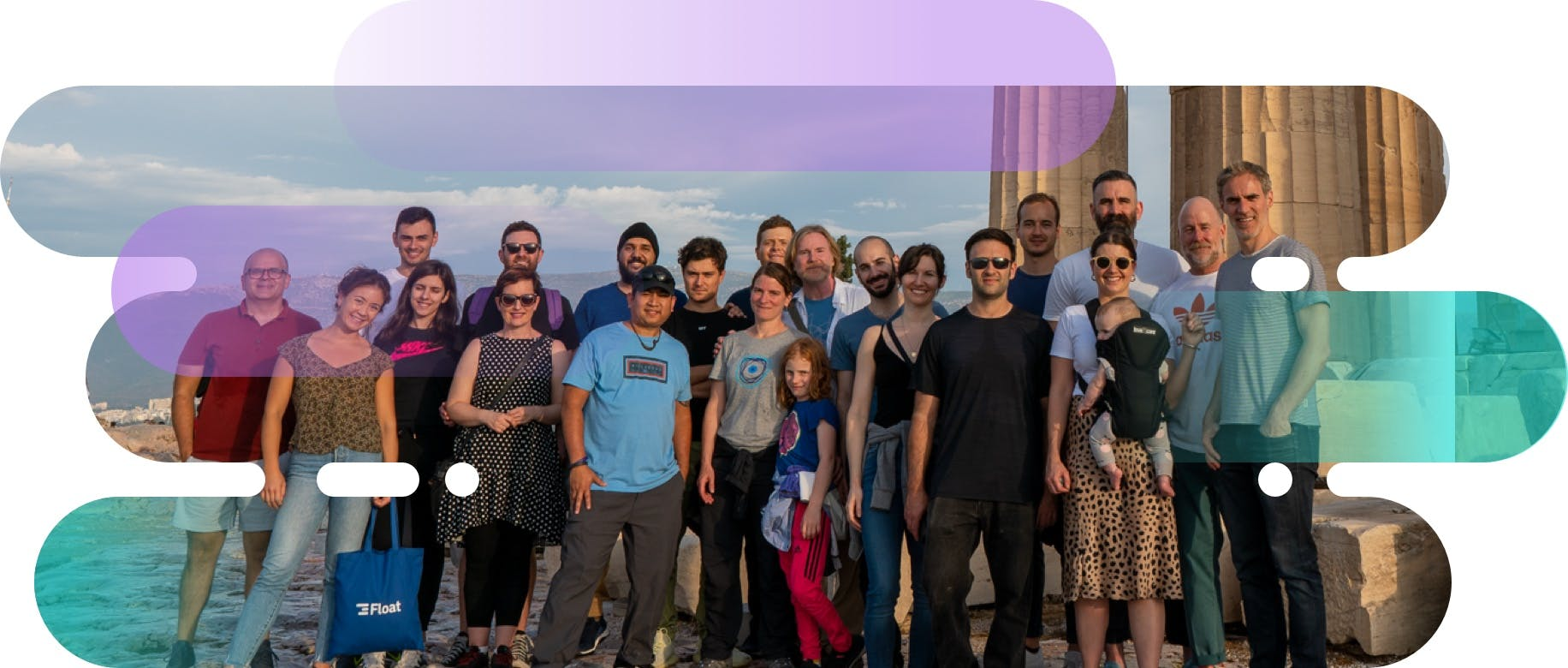 The Float team at our remote meetup in Athens