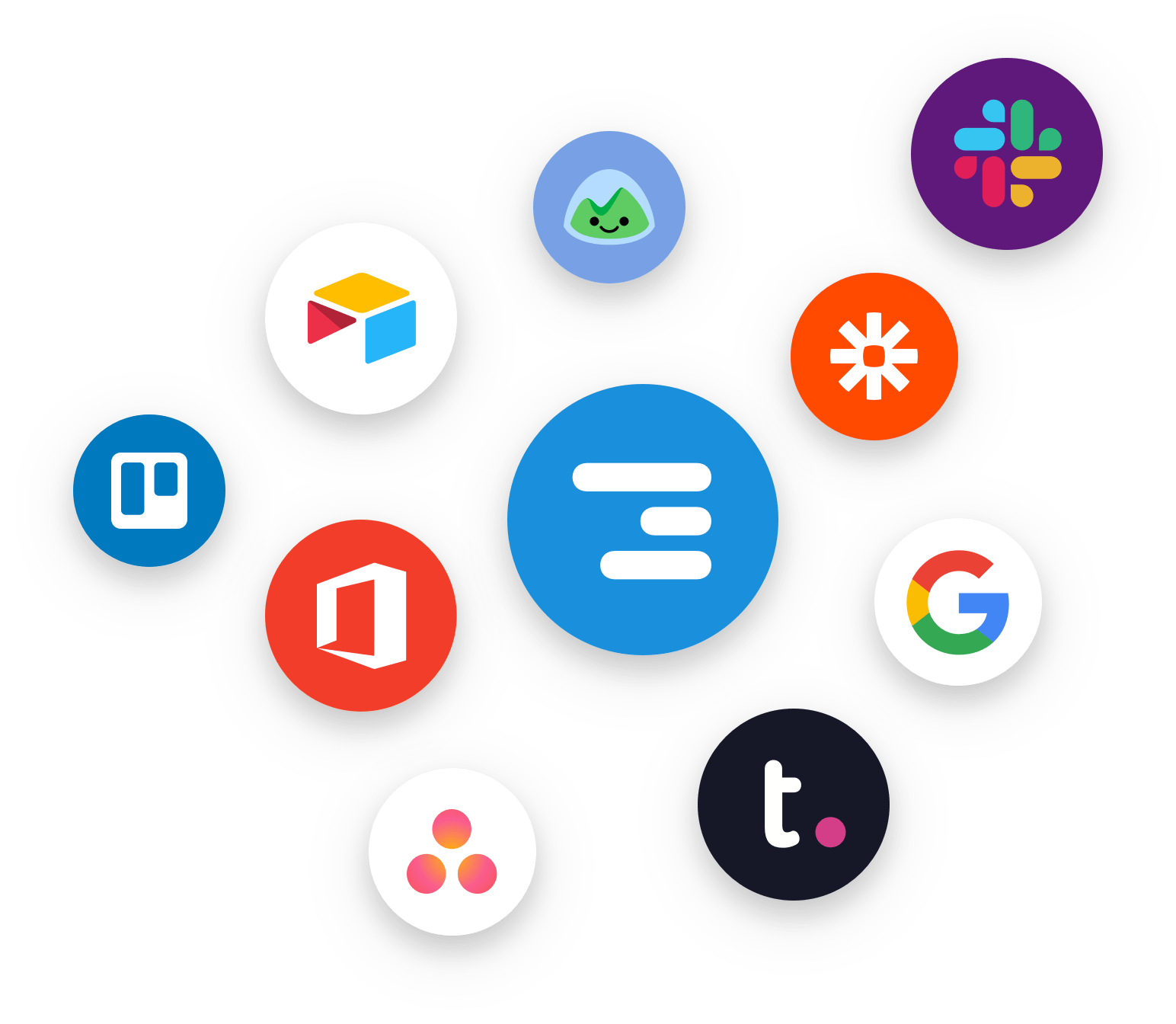 Logos of product integrations with Float