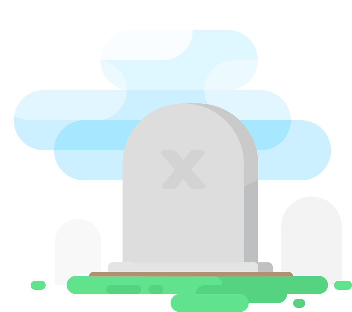 Excel sheet tombstone illustration