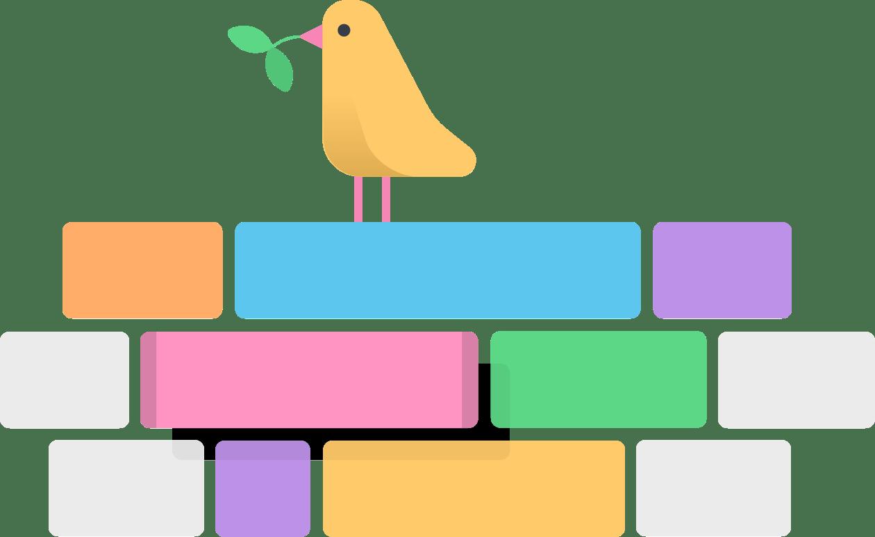 Bird viewing team schedule illustration