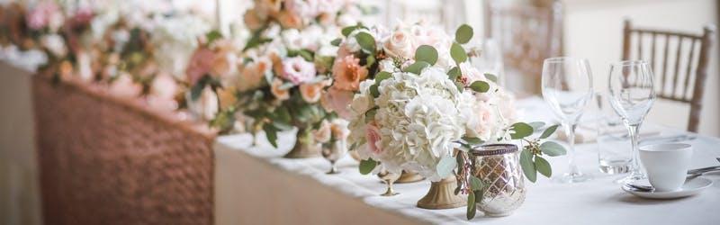 A set wedding table