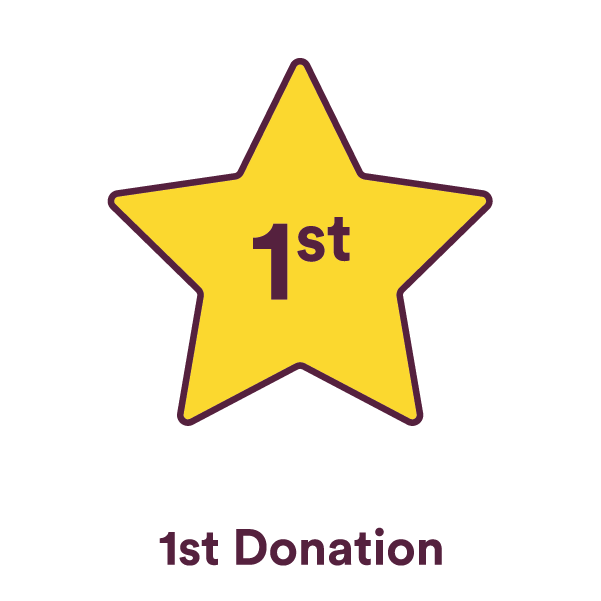 You got your first donation!