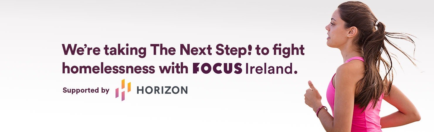 I'm taking The Next Step to fight homelessness with Focus Ireland banner