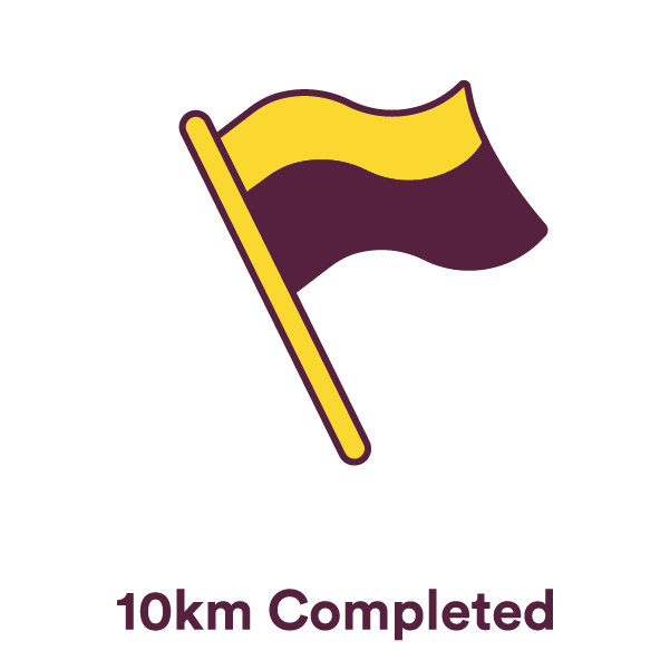 10km complete... Keep going!
